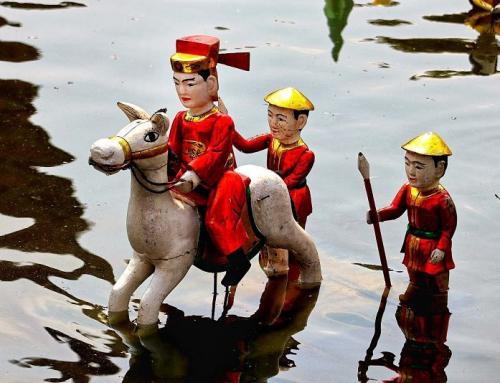 Thang Long o espectáculo de las marionetas de agua de Hanoi
